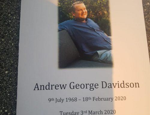 In loving memory – Andy Davidson (1968-2020)