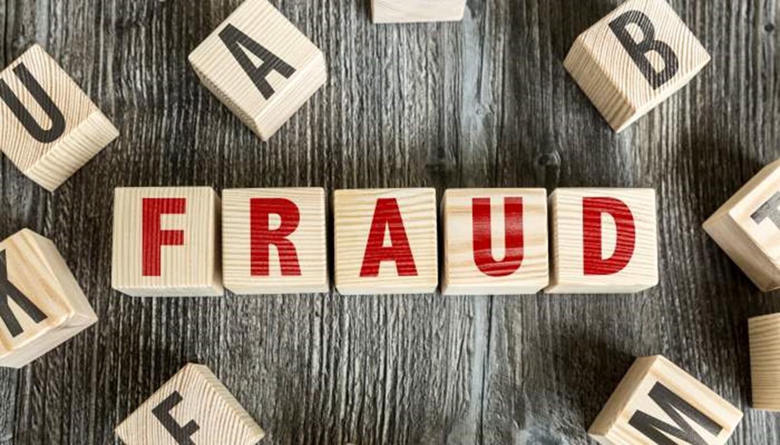 letter blocks fraud